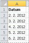 Převedená kalendářní data