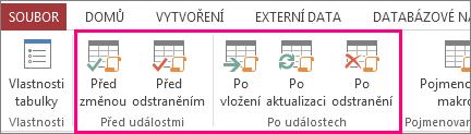 Přidání datového makra řízeného událostí