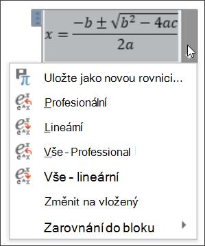 Všechny lineární rovnice