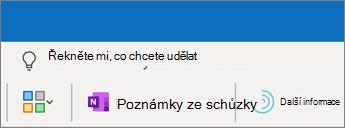 Přidání poznámek ke schůzce v Outlooku