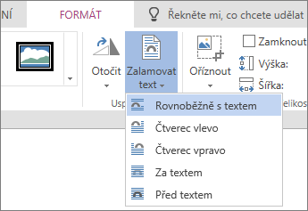 Obrázek formátování - Zalamovat text rozevíracího seznamu