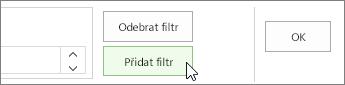 Přidat tlačítko Filtr