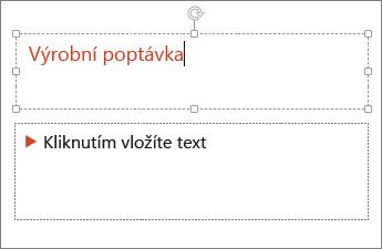 Přidání textu