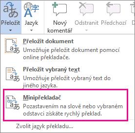 Minipřekladač:
