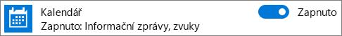 Vypnutí oznámení kalendáře pomocí nastavení systému Windows 10