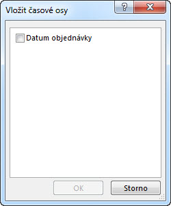 Dialogové okno Vložit časové osy
