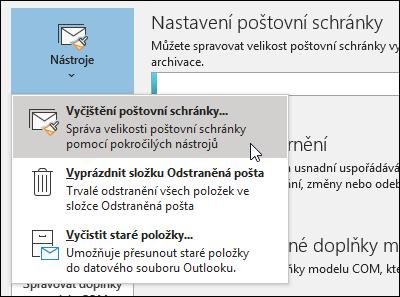 Vyčištění poštovní schránky