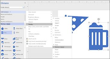 Diagram se dvěma ikonami