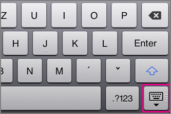 Skrytí klávesnice