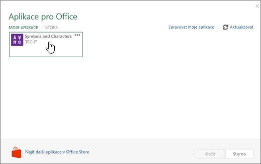 Snímek obrazovky zobrazuje kartu Moje aplikace stránce aplikace pro Office.