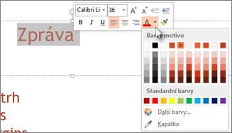 Změna barvy textu