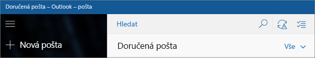 Takto vypadá aplikace Windows 10 Pošta.