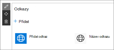 Webová část odkazy