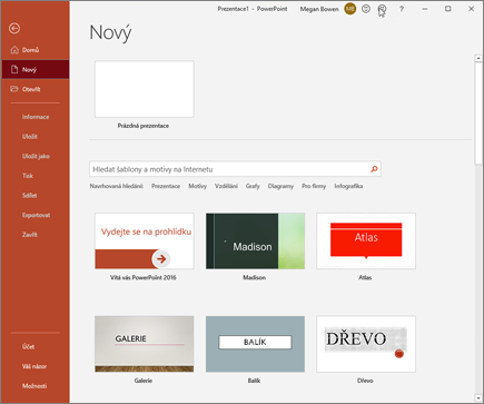 PowerPoint – vytvoření nové prezentace
