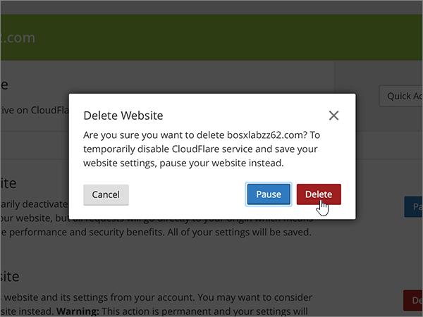 Cloudflare doporučených postupů-změna delegování-1-3