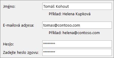 Úvodní příručka pro zaměstnance: Vytvoření e-mailového účtu Outlooku