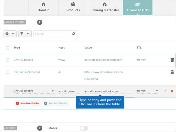 Namecheap – doporučených postupů – konfigurace 3-2