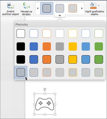 Úprava grafického stylu ikony