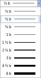 Velikost ohraničení tabulky