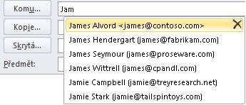 Seznam automatického dokončování