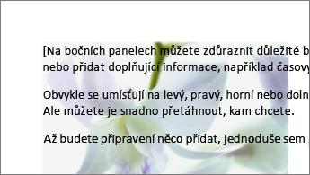 Příklad obrázku umístěného za blokem textu