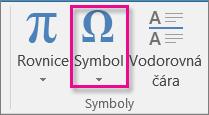 Vložení symbolu
