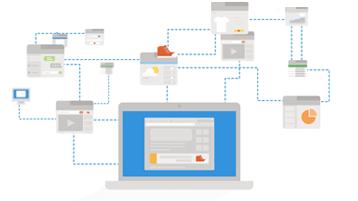 Koncepční obrázek webových sledovacích modulů