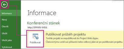 Publikování projektu