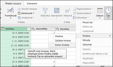 Power Query – Extrakce začátku/konce hodiny ze sloupce Datum/Čas nebo Čas v Editoru dotazů