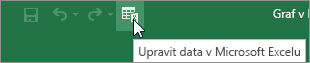 Úpravy dat v aplikaci Microsoft Excel ikonu na panelu nástrojů Rychlý přístup