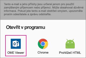 Prohlížeč OME s Gmail v Androidu 2