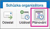 Tlačítko plánování Mac 2016