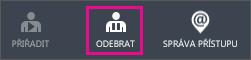 Zobrazí tlačítko Odebrat v Azure AD