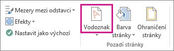 Příkaz Vodoznak ve Wordu 2013 Na kartě Návrh klikněte na Vodoznak.