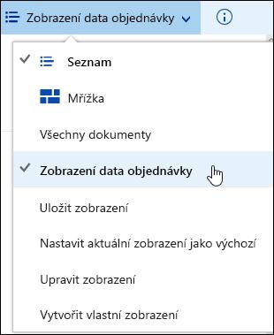 Uložení zobrazení knihovny vlastní dokumentů v Office 365
