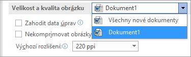 Konfigurace komprese obrázků v Office pro dosažení správného poměru kvality a velikosti souboru