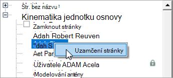 Klikněte pravým tlačítkem na jméno studenta.