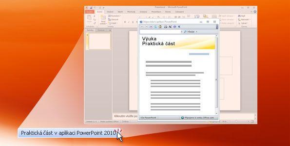 Praktická část v aplikaci PowerPoint 2010