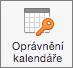 Outlook 2016 pro Mac tlačítko Kalendář oprávnění