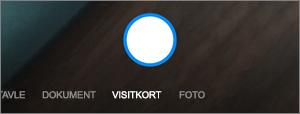 Indstillinger, når du scanner via OneDrive til Android