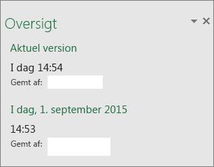 Ruden Oversigt i Excel 2016 til Windows
