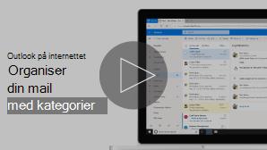 Miniaturebillede af Organiser mail med kategori video