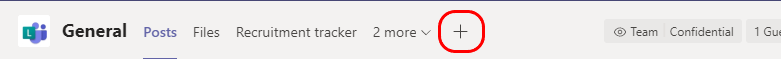 Tilføje et liste ikon øverst på siden