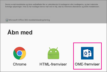 OME Viewer med Android-mailapp 2