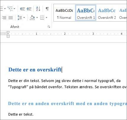 Word-typografier