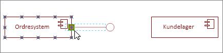 Angivet grænsefladefigur fastklæbet til komponentfigur