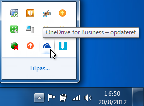 Synkroniseringsstatus for OneDrive for Business