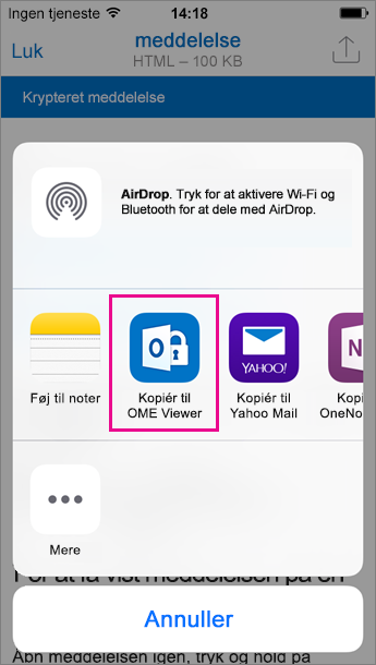 OME Viewer til Outlook til iOS 3
