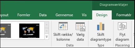 Værktøjer på båndet Excel-kortdiagram