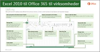 Miniaturebillede af vejledning til skift fra Excel 2010 til Office 365